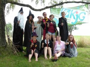 Die Gruppenleiter verkleidet als Harry Potter-Charaktere, passend zum Motto.