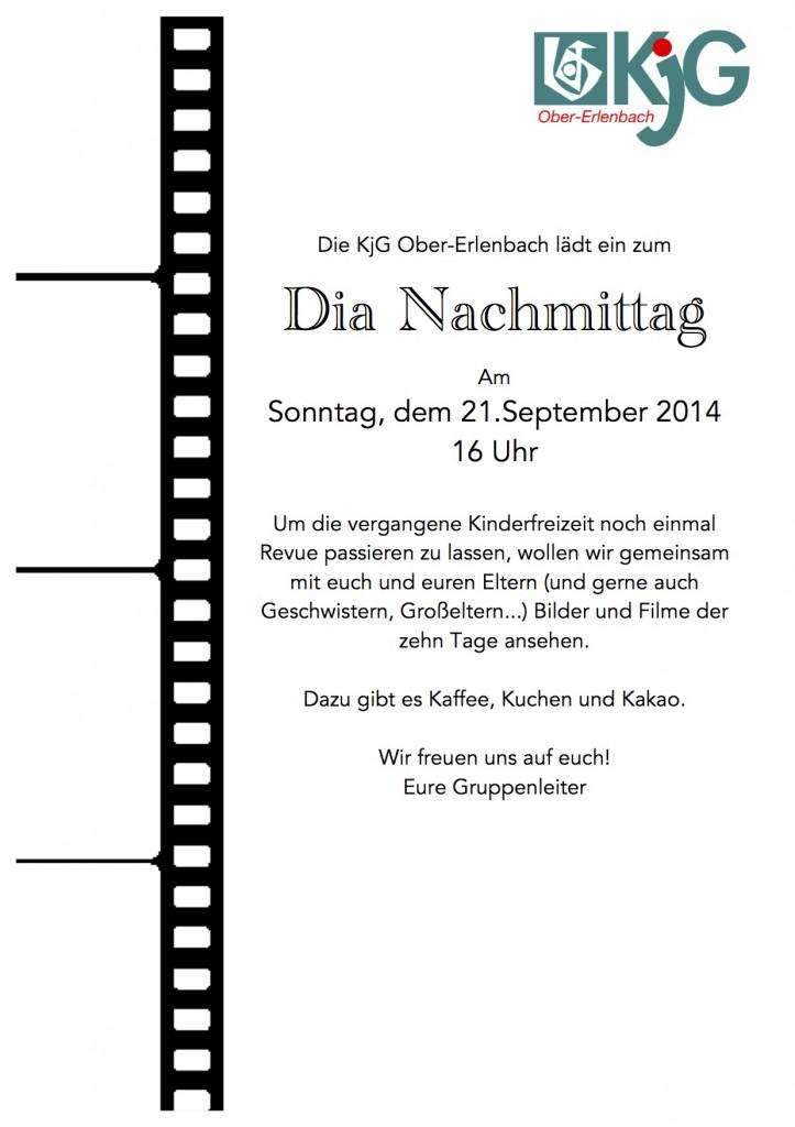 Einladung Dia-Nachmittag 2014